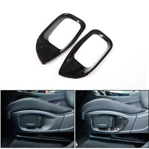 Carbon Side Seat Trim Adjust Buttons Cover fit For Jaguar XE XF F-PACE 2016-2018