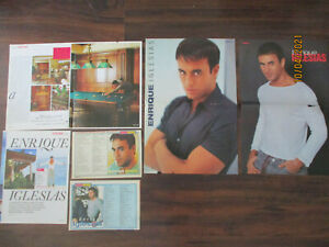 ENRIQUE IGLESIAS CLIPPINGS ARTICLES POSTER HUNGARIAN LOT