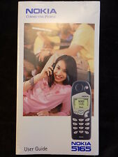 VINTAGE, NOKIA 5165 CELL PHONE USER GUIDE Owners Manual - NEW, SEALED