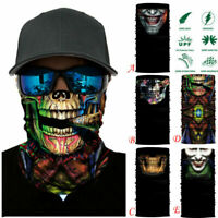 Skulls Clown Joker Neck Tube Warmer Mask Scarf Snood Biker Balaclava Bandana UK
