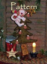 Primitive Patti's Ratties Christmas Tree Cat Shelf Ornie Paper Pattern #371