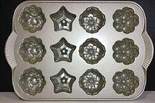 NORDIC WARE Non-Stick HOLIDAY MINI MUFFIN PAN / 12 Molds  Cast Aluminum