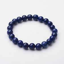 Natural Lapis Lazuli 8mm Bead Stretch Bracelet Chakra Healing UK