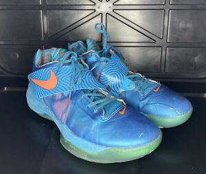 Nike Zoom KD 4 Year of the Dragon 473679 300 Used Men's Size 11 IV YOTD Blue