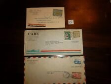 3 Dominican Republic Advertising Covers Lot - Care Air Mail
