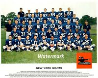 NFL 1962 New York Giants Team Picture Color 8 X 10 Photo Picture Free Shipping