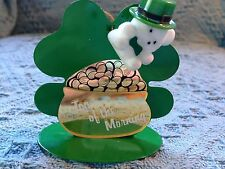 """NOS AVON ST. PATRICK'S DAY """"TOP OF THE MORNING TEDDY"""" ORNAMENT AND PIN"""
