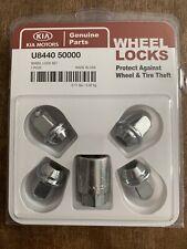 U8440 5000 ~ Genuine ~ Kia Motors Wheel Locks Set ~ OEM parts. #6F