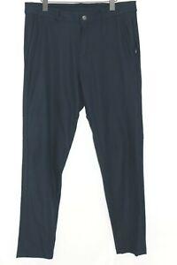 LULULEMON ABC Slim Pants W/ Zippered Pockets - Navy Blue - Men's 33
