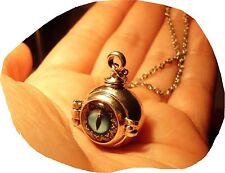 Medaillon Kette Dragoneye steampunk Drachen Drachenauge Auge Gothic Dragon