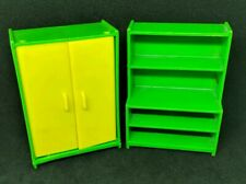 VINTAGE JEAN HÖFLER (W. GERMANY) - Green Bookcase Desk Dresser Locker Combo