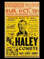 "Bill Haley Evergreen 16"" x 12"" Photo Repro Concert Poster"