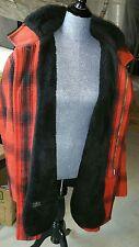 Vtg STRATOJAC Men's Barn Western Ranch hunting farm red plaid Coat Jacket ~ 46