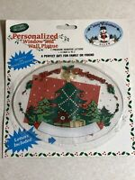 Vintage 1989 Christmas Personalized Window & Wall Plaque + Suction Cup NOS