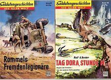 Soldatengeschichten ab 1957 Nr 1-84 + 11 weitere Hefte + 6 Original Sammelordner