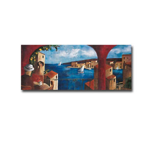 Warm Afternoons by Lourenco Gallery-Wrapped Canvas Giclee Art (16 in x 48 in)