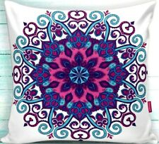 """2 Pieces 18""""x18"""" Decorative Pillow Case - Namaste Multicolor Theme"""