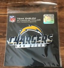 San Diego Chargers NFL Licensed Full Color Aluminum Team Emblem Decal
