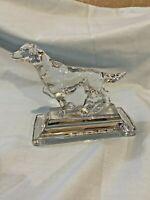 RALPH LAUREN CRYSTAL DOG POINTER FIGURINE Paperweight Clear Glass