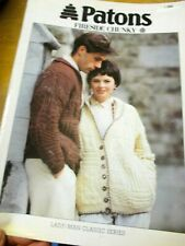 PATONS FIRESIDE CHUNKY LADY/MAN CARDIGAN LEAFLET NO. 260