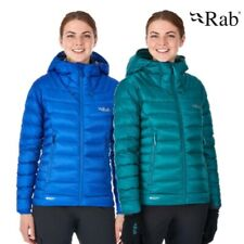 RAB WOMENS ELECTRON GOOSE DOWN INSULATED JACKET GREEN or BLUE