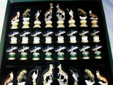 Franklin Mint Sportsman Trophy Chess Set: No Board
