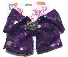 Jojo Siwa Halloween Hair Bow Light-Up Black Cat Purple Sequence
