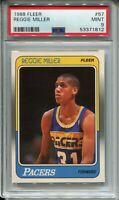 1988 Fleer Basketball #57 Reggie Miller Rookie Card RC Graded PSA MINT 9