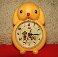 Vintage Mechanical Alarm Clock Renjun China Shanghai Rare 1980 #24221