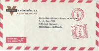 Peru 1976 Airmail Voyzol Co.Slogan Lima Cancel Meter Mail Stamps Cover Ref 29324