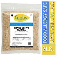 White Quinoa Grain, 2 LBS Food Allergy Safe, All-Natural, Vegan & Non GMO