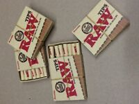 RAW Brand Natural (4 Packs) PRE-ROLLED Cigarette Filter Rolling Paper 84 Tips