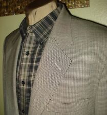 Eddie Bauer 3 button ecru black houndstooth wool sportscoat blazer  44 L