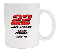 NASCAR Driver Coffee Mugs-Joey Logano #22 Ceramic Mug Set of 2