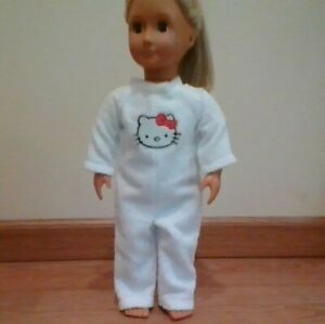 NEW GENERATION DOLL CLOTHES HELLO KITTY PAJAMA JUMPSUIT FIT 18 INCH DOLLS