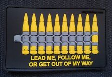 "PVC BULLET 3D PATCH s2 ammo ""GET OUT OF MY WAY"" MOLLE DEVGRU SOF UKSF PCU Hook"