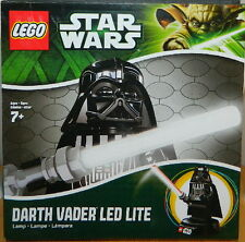 "Star Wars Darth Vader 8"" Figure on Base LED LITE Nightlight 2013 LEGO NEW UNUSED"