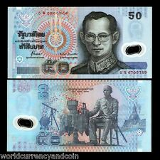 THAILAND 50 BAHT P102 1997 KING OS Replacement Running # 10 POLYMER UNC LOT NOTE