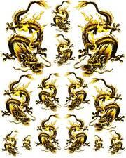 Rockabilly Tattoo Art Guitar Dragon Waterslide Decal 6   #50
