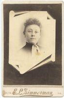 Cabinet Photo - Memorial Type - Lady - Galva, Illinois