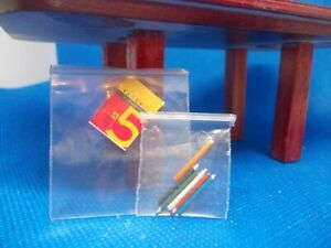 A5 DRAWING PAD AND COLOUR PENCILS FOR A DOLLS HOUSE