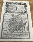 MONMOUTHSHIRE COUNTY MAP ABERGAVENNY  BOWEN RD MAP C1720 FROM BRITANNIA DEPICTA