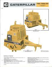 Equipment Brochure - Caterpillar - TSF TSM-54 Vibratory Compactor c1986 (E4486)