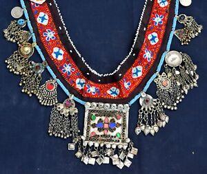 Old Kuchi Tribal Square Vintage Pendant Belt Costume Boho Belly Dance Ethnic