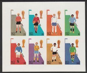 ISO (Sweden) 7496 - 1974 FOOTBALL WORLD CUP imperf sheetlet of 8 u/mint