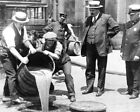 """Prohibition Beer Barrel Poured In Sewer 8"""" - 10"""" B&W Photo Reprint"""
