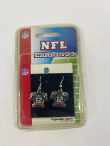 New England Patriots Tom Brady Vintage Jersey Earrings by PSG NEW