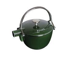 STAUB Bouilloire Rond Basilic Vert 16,5 cm pour thé fer de fonte