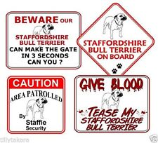 Staffordshire Bull Terrier Instructional Dog Signs & Plaques