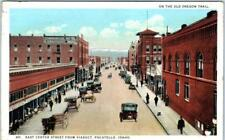 Pocatello, Idaho Id East Center Street Scene from Viaduct 1923 Postcard